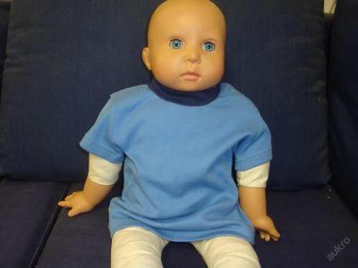 Dětské modré tričko krátký rukáv - vel.56,62
