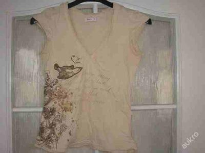Dámské béžové tričko ORSAY krátký rukáv