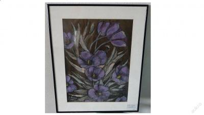 Obraz tulipány signace originál ELVIRA KORNHUBER 2001 /Fotky v textu