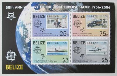 Belize 2006 Výročí Evropa CEPT Mi# Block 102 0462