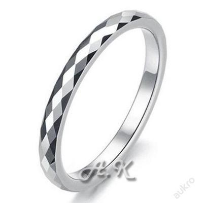 Prsten STŘÍBRNÝ WOLFRAM hranatý 18.7mm