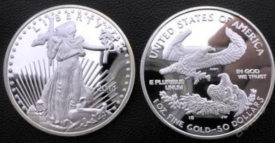 Liberty USA 1oz fine gold 50 dollars 2011 PROOF