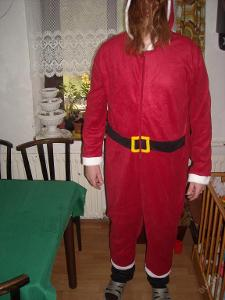 kostým - overal - Santa