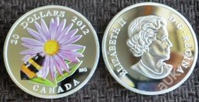 Kanada 20 dollars 2012 Včelka stříbřená PROOF