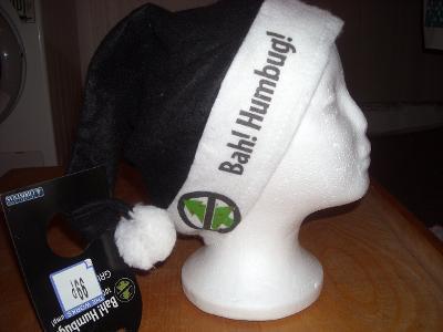 kostým - antivánoční čapka