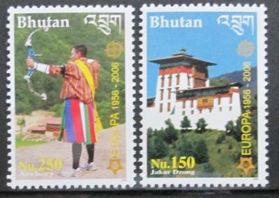 Bhútán 2006 Evropa CEPT Mi# 2488-89 Kat 20€ 0434