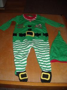 kostým - dupačky,overal - elf