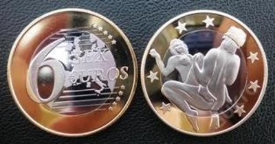 6 sex euros Kama Sutra pozlacená postříbřená