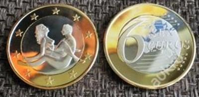 6 sex euros Kama Sutra 7 pozlacená postříbřená