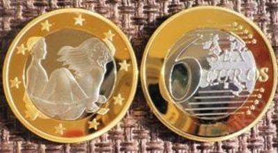 6 sex euros Kama Sutra *14* pozlacená postříbřená