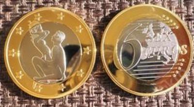 6 sex euros Kama Sutra *20* pozlacená postříbřená
