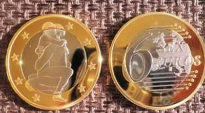 6 sex euros Kama Sutra *19* pozlacená postříbřená