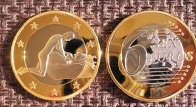 6 sex euros Kama Sutra *15* pozlacená postříbřená