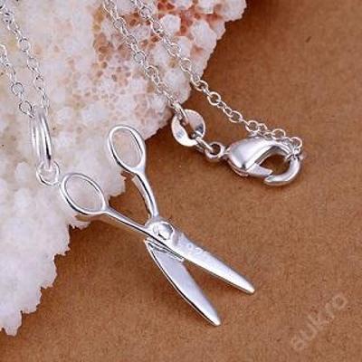 Náhrdelník Nůžky řetízek stříbřené .925 *231