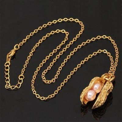 Náhrdelník ARAŠÍDY BURÁKY perly 18K zlacený *437