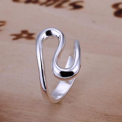 Prsten VLNA 18mm stříbřený .925 *265