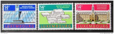 Lucembursko 1992 Architektura Mi# 1288-90 0450