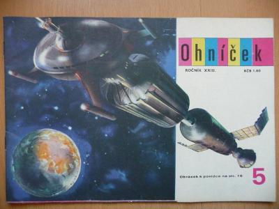Časopis - OHNÍČEK - ročník XXIII. č.5 z roku 1972