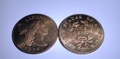 USA large 1 cent 1796 kopie RR M-0306