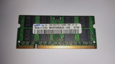 Paměť do NB 1GB DDR2 SO-DIMM 667 Mhz Samsung