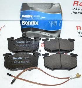 Přední brzdové destičky RENAULT CLIO I , RAPID , SUPER 5 , TWINGO I