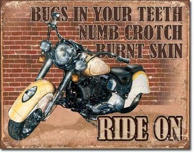 Plechová cedule Ride On 40x30cm
