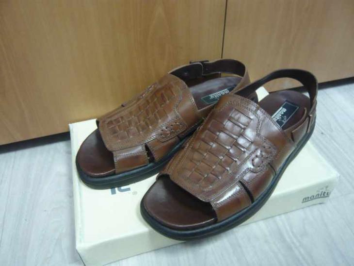 Pánské kožené boty obuv sandály manitu vel. 43 44 - Pánské boty