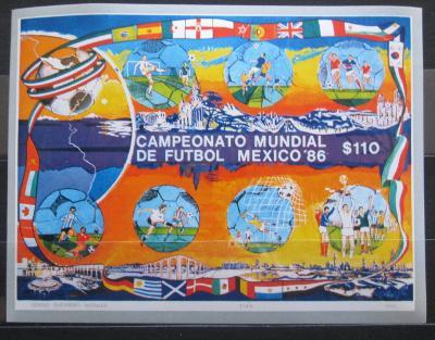 Mexiko 1986 MS ve fotbale Mi# Block 33 0937