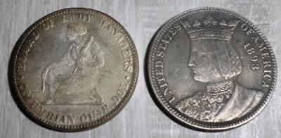 USA quorter 0,25 dollar 1893 Isabella kopie M-0281