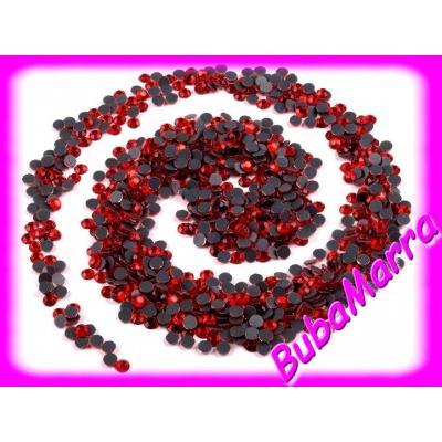 ~100ks~ HOT FIX ~ nažehlovací kamínky ~  červená