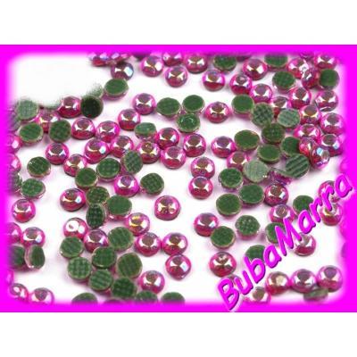 ~100ks~ HOT FIX ~ nažehlovací kamínky ~  růžová AB