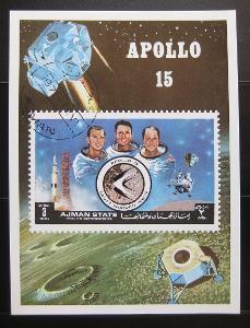 Adžmán 1972 Projekt Apollo Mi# Block 345 0826