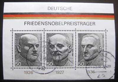 Německo 1975 Držitelé Nob. ceny Mi# Block 11 0831