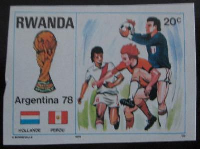 Rwanda 1978 MS ve fotbale, vzácné Mi# 944 B 0798