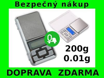 DIGITÁLNÍ KAPESNÍ VÁHA 200g/0,01g DOPRAVA ZDARMA!