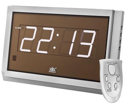 Digitální hodiny XONIX s ovladačem, budík + snooze