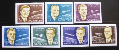 Maďarsko 1962 Kosmonauti Mi# 1873-79 B 100€ 0629