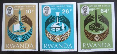 Rwanda 1977 Konference,vzácné Mi# 860-62 16€ 0663
