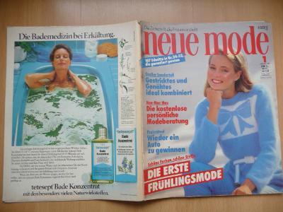 Německý časopis - NEUE MODE - číslo 1. z roku 1981