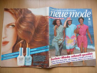 Německý časopis - NEUE MODE - číslo 6. z roku 1981