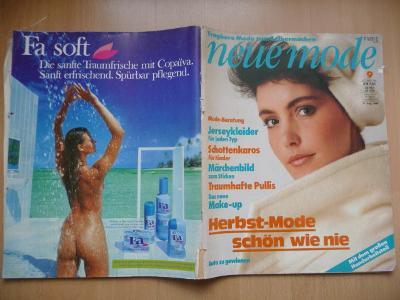 Německý časopis - NEUE MODE - číslo 9. z roku 1984