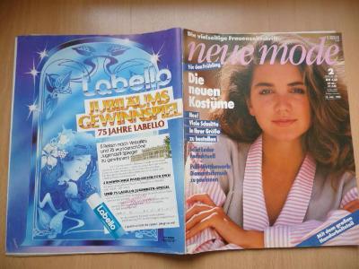 Německý časopis - NEUE MODE - číslo 2. z roku 1985