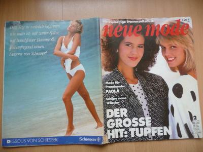 Německý časopis - NEUE MODE - číslo 2. z roku 1986