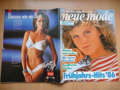Německý časopis - NEUE MODE - číslo 3. z roku 1986