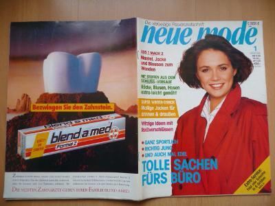 Německý časopis - NEUE MODE - číslo 1. z roku 1988