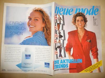 Německý časopis - NEUE MODE - číslo 8. z roku 1988