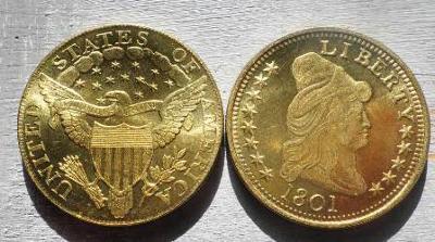 USA 10 dollars 1801 Liberty kopie RR M-0262