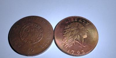 USA large 1 cent 1793 kopie RR M-0357