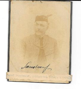 Joseph Sansboeuf, signováno, podpis, originál