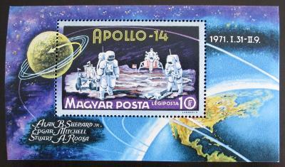 Maďarsko 1971 Apollo 14 Mi# Block 80 0553